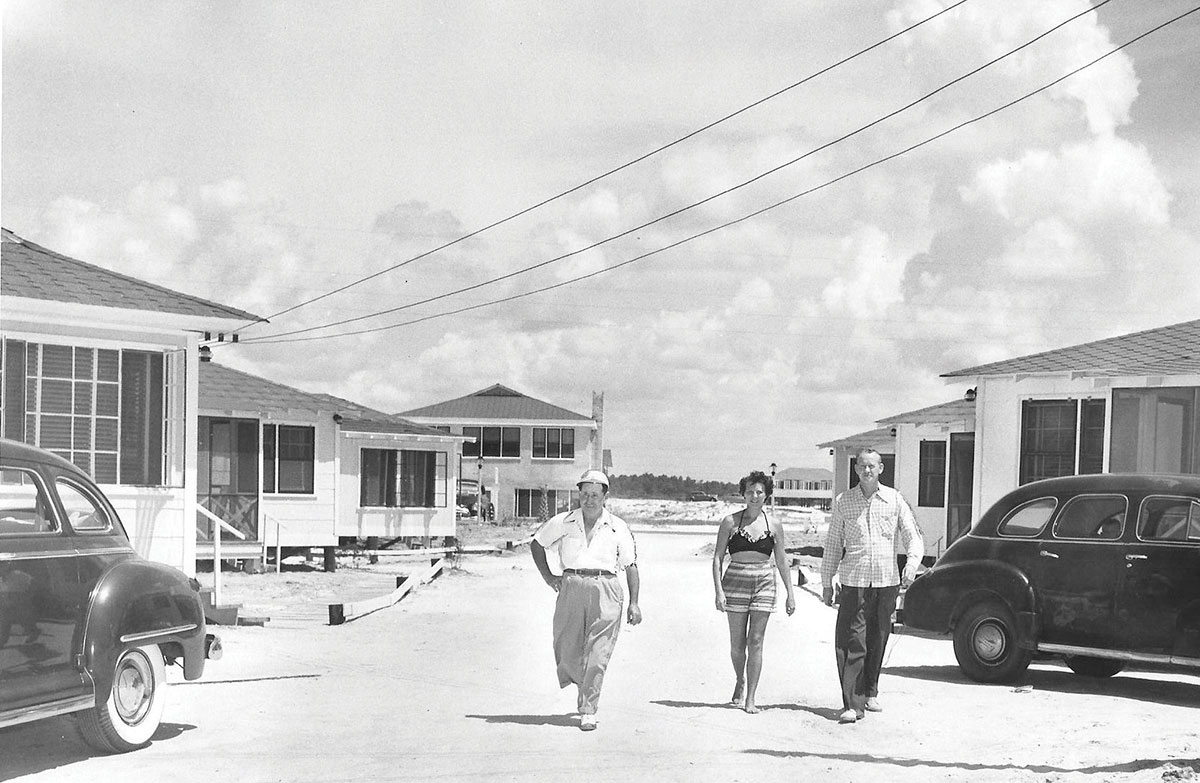 Gulf Shores beach cottages in the 1950s