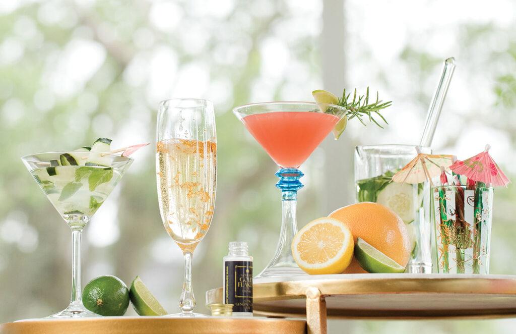 Flight of summer cocktails