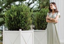 Elizabeth Damrich on her front porch