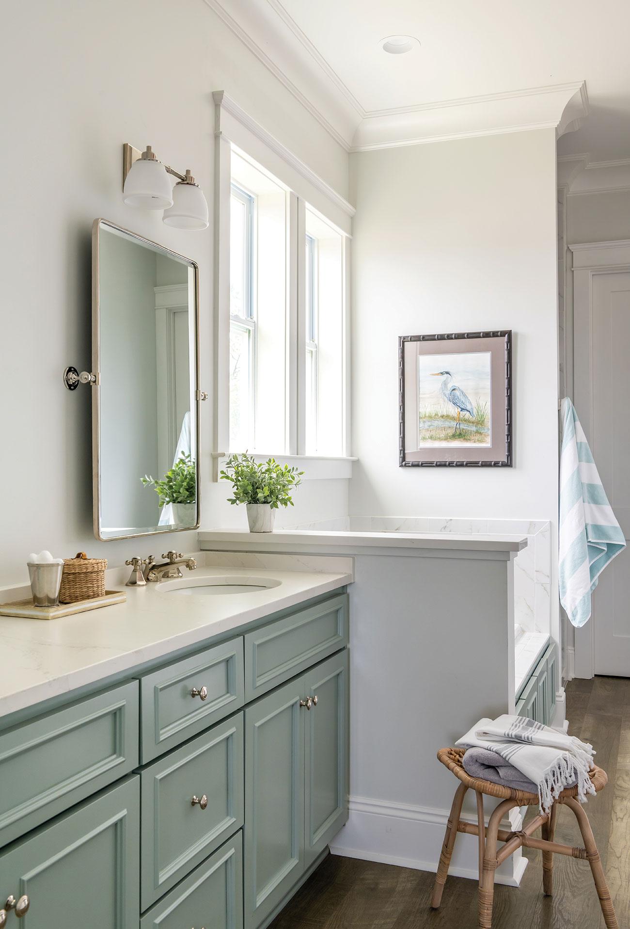 Coastal guest bathroom vanity