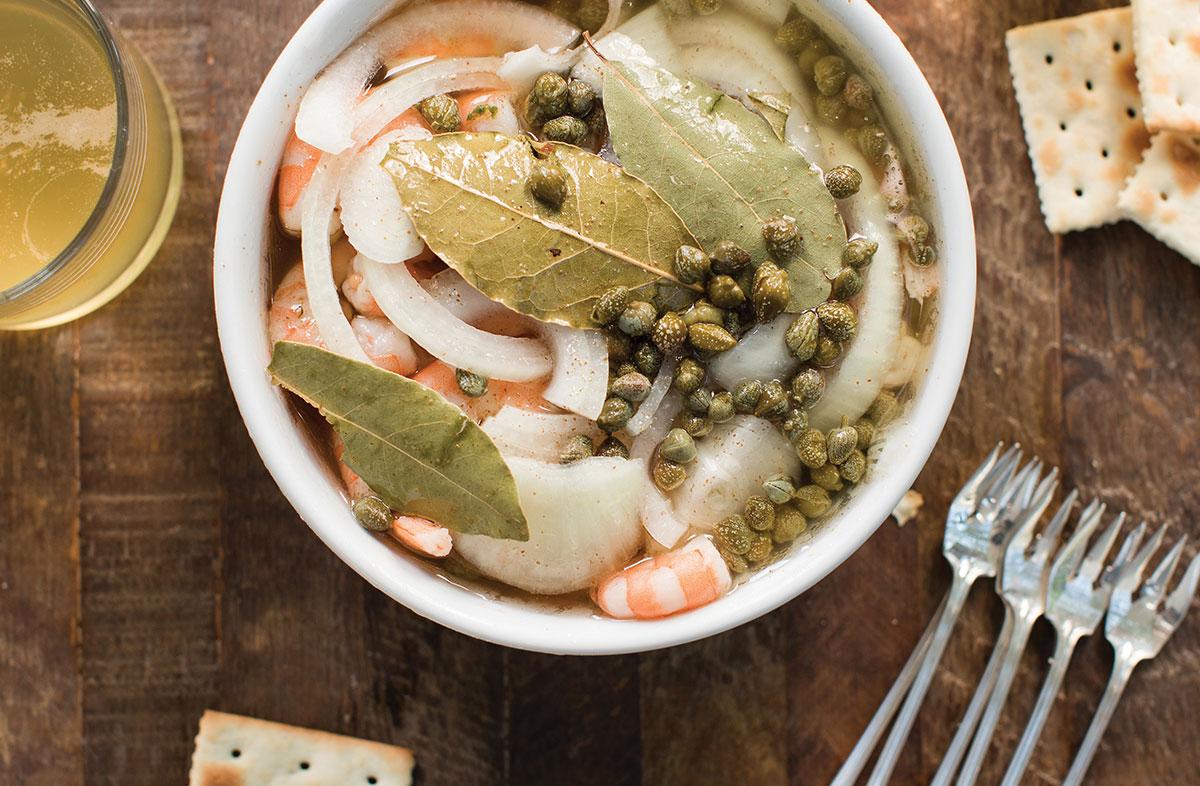 Bowl of Pickled Shrimp