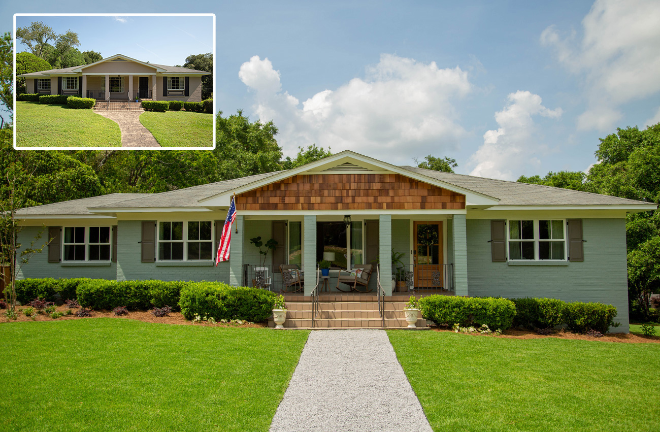 ranch house exterior renovation