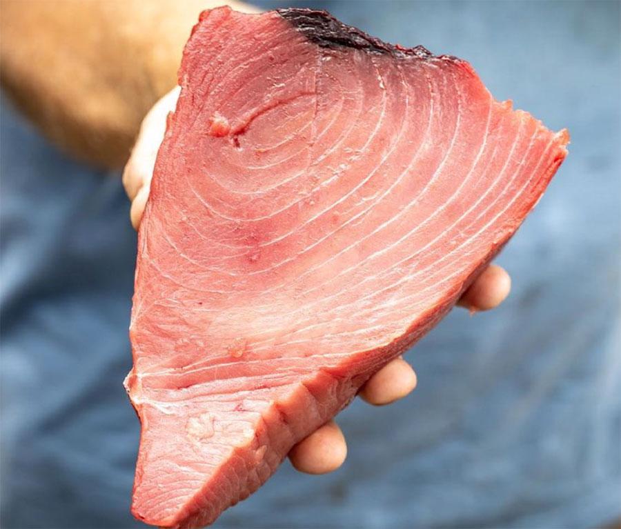 Fresh fish fillet up close
