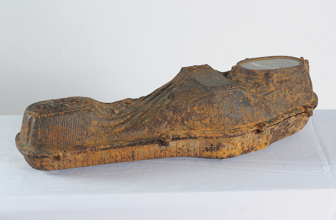 cast-iron coffin