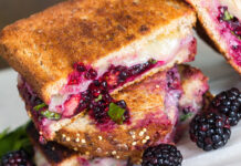Blackberry & Fontina Grilled Cheese