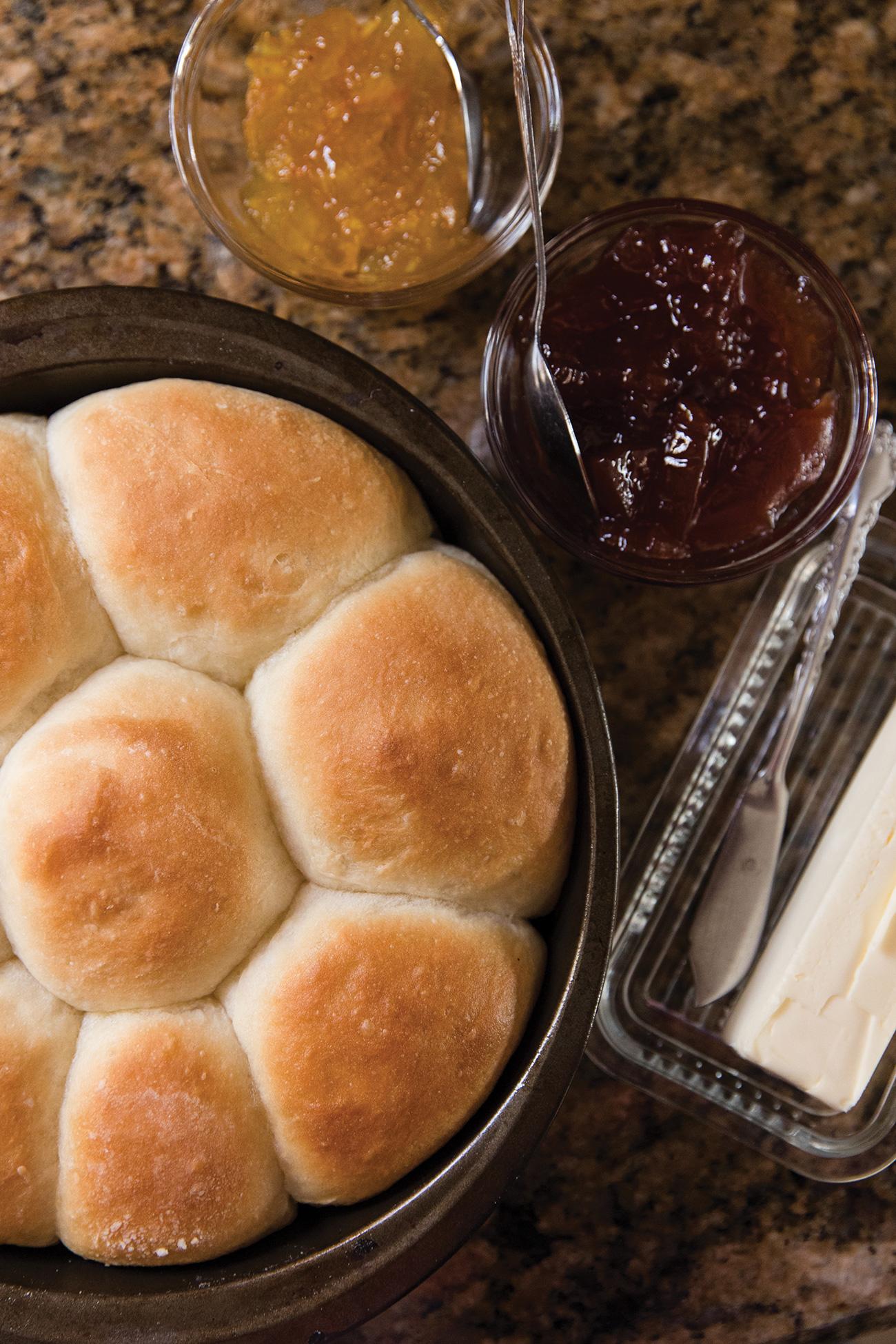 pan of yeast rolls