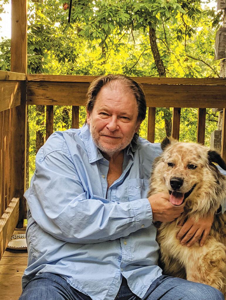 Rick Bragg and his dog