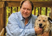 Rick Bragg with his dog