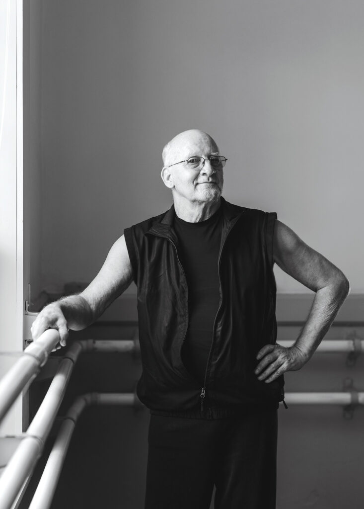Don Prosch standing in a dance studio
