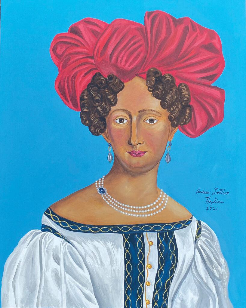 Portrait of a woman by artist Andrew LaMar Hopkins