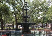 Bienville Square fountain